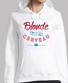 blonde cerveau avec