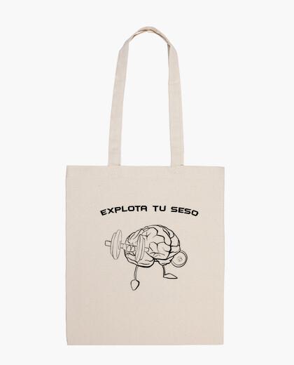 Blow your mind, cloth bag, natural color
