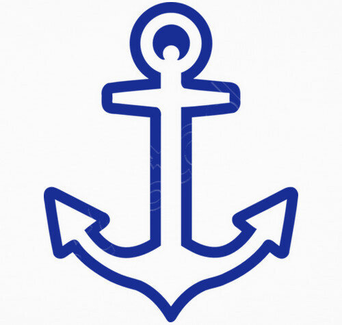 Tee shirt bleu ancre logo 1040248 - Ancre marine dessin ...