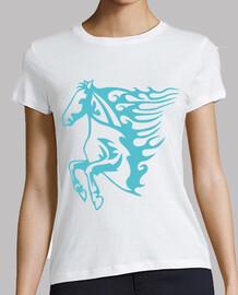blue flames horse