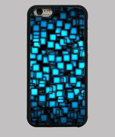 Blue Geometric Textures