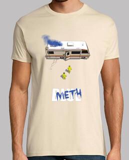 blue meth shirt man