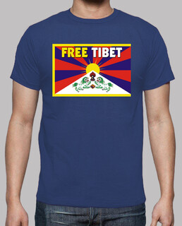 blue shirt manga short unisex - free tibet