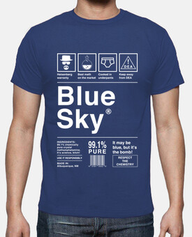 Blue Sky - Breaking Bad (lettres blanches)