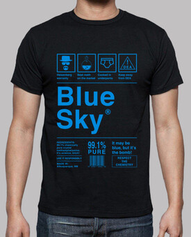 Blue Sky - Breaking Bad (lettres bleues)
