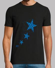 BLUE STARS 3D ESCHER