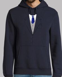 blue tie suit