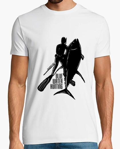 Blue water hunting man t-shirt