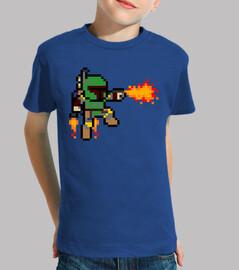 Boba Fett 8 Bits (Camiseta Niño)