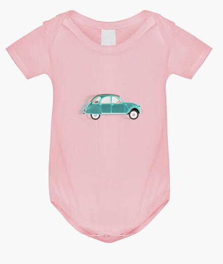 Ropa infantil body 2cv citroen verde // bebé / rosa