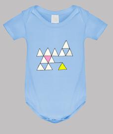 Body azul Triángulos