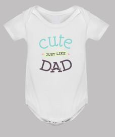 body baby newborn child cute just like dad