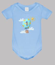 Body bebé 1 mes recién nacido - dibujo globo