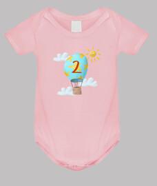 Body bebé 2 meses recién nacido - cielo con globo
