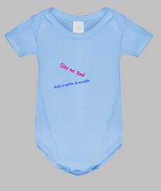 Body bebé, azul cielo con texto