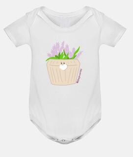 Body bebé, blanco  maceta LAVANDA