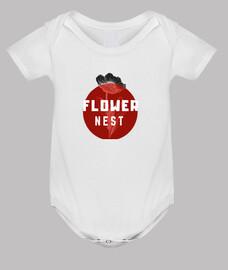 Body bebé, blanco de flores