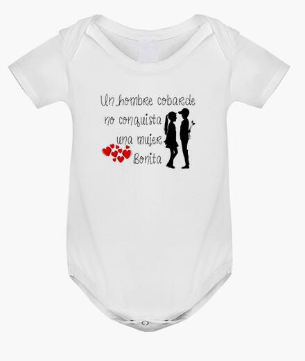 Ropa infantil Body bebé, blanco Un hombre cobarde