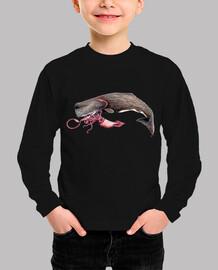 Body bebe Cachalote y calamar