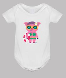 Body bebé cerdita, 3 colores