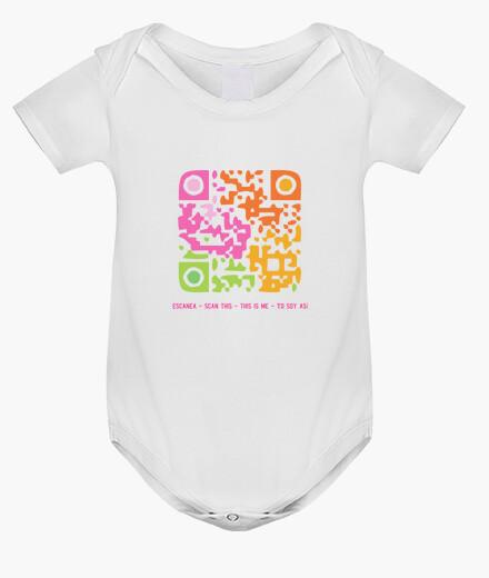 Ropa infantil Body bebé Código QR - Yo soy así (chica)