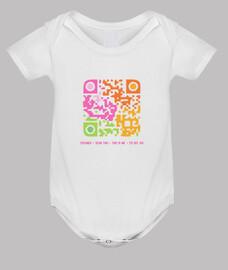 Body bebé Código QR - Yo soy así (chica)