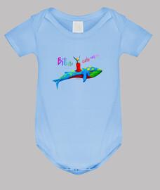 Body bebé fiestero - azul cielo