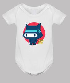 Body bebé Gato ninja (3 colores)