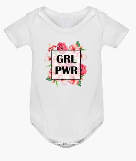 Ropa infantil Body bebé Girl Power Negro