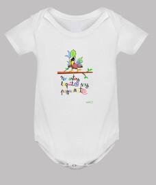 Body bebé gracioso: pájaro loquito