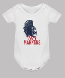Body bebé. Mono No Manners