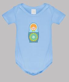 Body bebé Muñeca rusa azul