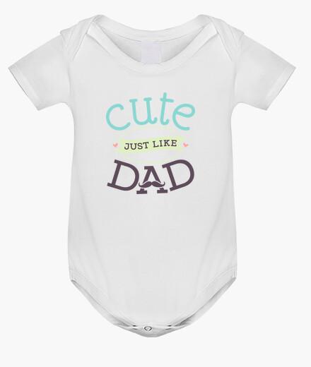 Ropa infantil Body bebé niño recién nacido cute just like dad