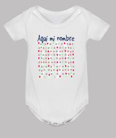 Body bebé nombre personalizado