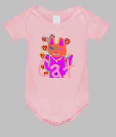 Body bebé, rosa claro