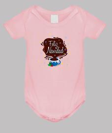 Body bebé, rosa claro Taza Feliz Navidad