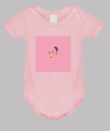 Body bebé rosa dibujo creativo