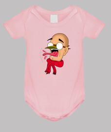 Body bebé, rosa, Gran susto