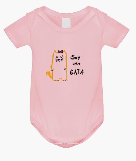 Ropa infantil Body bebé rosa Soy un gato