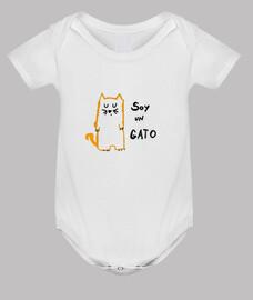 Body bebé Soy un gato