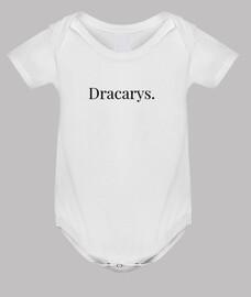 Body bebé Dracarys, blanco