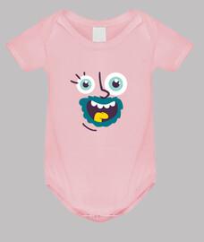 Body bebé, rosa Cara Loca