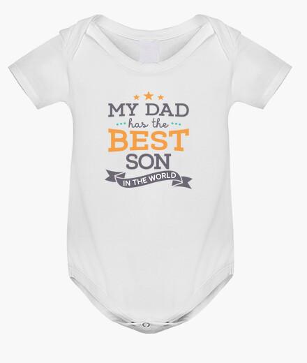 Ropa infantil Body con mensaje My dad has the best son in the world para niño recién nacido