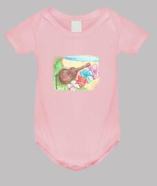 Body de bebé Over the rainbow - Rosa