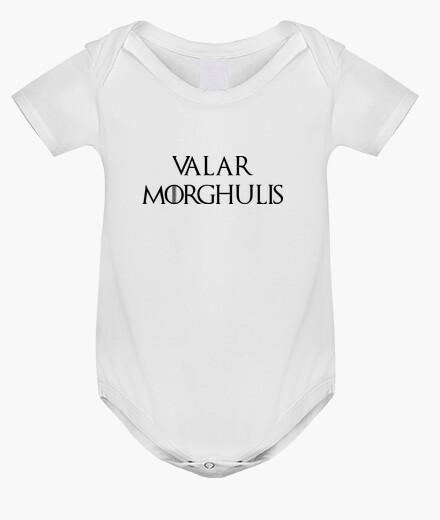 Abbigliamento bambino Body Game of Thrones: valar morghulis