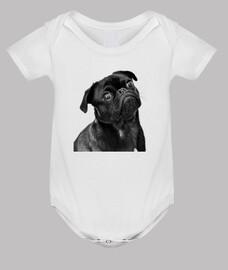 Body para bebe diseño Perro Carlino Pug
