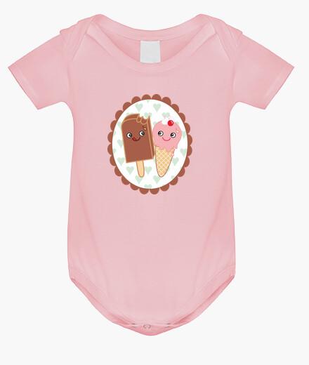 Ropa infantil Body para bebé Helados enamorados kawaii
