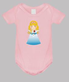 Body para bebé Kokeshi Aurora (La Bella durmiente)