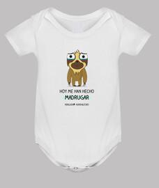 Body para bebés perezosos que son sensibles a madrugar