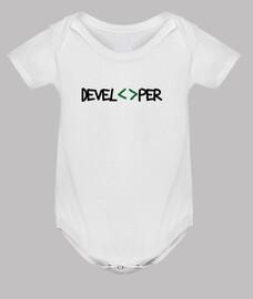 bodysuit baby geek - developer